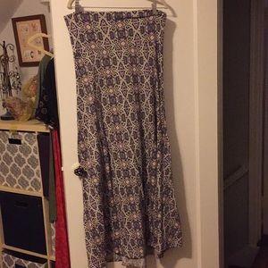 Lula Roe maxi skirt size large